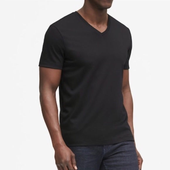 Banana Republic | Black V-Neck Pima Cotton Tee